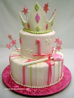 Princess Birthday Cake by Pink Cake Box in Denville, NJ.  More photos and videos at http://blog.pinkcakebox.com/princess-birthday-cake-2007-10-20.htm
