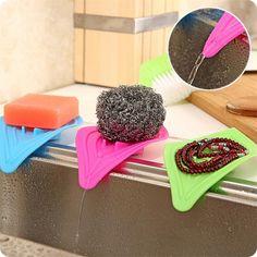 [Visit to Buy] Multifunctional Slip Ring Leaves Soap Stroage Box Holders Drain And Clean Kitchen Sink Sponge Holder #Advertisement