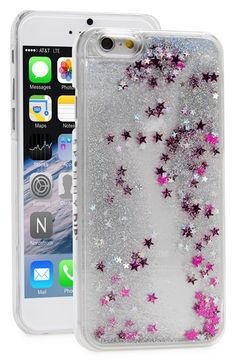 SKINNY+DIP+Skinnydip+'Silver+Glitter'+Liquid+iPhone+6+Case+available+at+#Nordstrom
