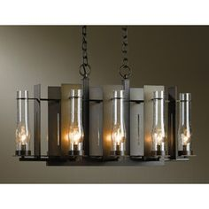 New Town 8-light Chandelier | Hubbardton Forge at Lightology