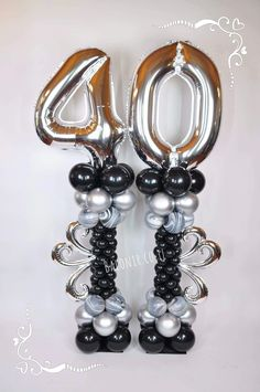 The video consists of 23 Christmas craft ideas. 40th Birthday Balloons, Happy 40th Birthday, 40th Birthday Parties, Balloons And More, Number Balloons, Letter Balloons, Balloon Shapes, Balloon Columns, Balloon Arch