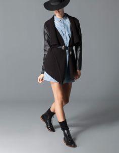 Combined sleeve tricot jacket ebbol Meset:)