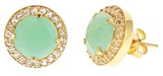 Chrysophase Pave Studs