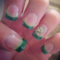 My St. Patricks Day gel nails