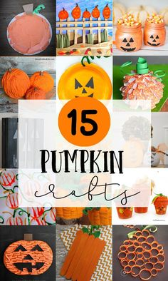 Explore these fun & easy pumpkin kids crafts. Cute ideas for fall speech therapy!