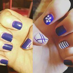 #nailart #nails #unghie unghie con smalto viola  kiko e bianco con tecnica #striping