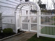 Wood Arbor and Gate