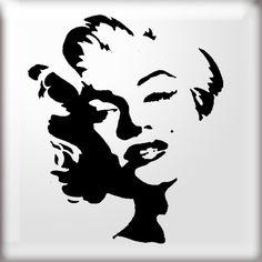 The Stencil Studio Famous Faces Range - Graffiti Style Marilyn Monroe Reusable Stencil - Size Small Stencil Graffiti, Stencil Painting, Stenciling, Spray Painting, Marilyn Monroe Dibujo, Marilyn Monroe Stencil, Spray Paint Stencils, Face Stencils, Graffiti Styles
