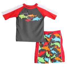 ABSORBA Baby-Boys Infant Shark Two Piece Swimsuit « Clothing Impulse