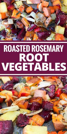 Rosemary Root Vegetables Roasted Rosemary Root Vegetables are a feast for the eyes and belly! Plus they're Paleo, vegetarian, & vegan!Roasted Rosemary Root Vegetables are a feast for the eyes and belly! Plus they're Paleo, vegetarian, & vegan! Beet Recipes, Vegetable Recipes, Vegetarian Recipes, Cooking Recipes, Healthy Recipes, Rutabaga Recipes, Vegetable Ideas, Cooking Rice, Low Carb Recipes