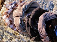 Croscé - Creative Crochet & Sewing: Fasce modellabili per capelli/punto vita/polso/collo - Mouldable bands for hair/waist/wrist/neck
