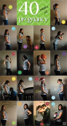 40 weeks of pregnancy baby bump pics! So fun to see your pregnant belly as it grows.