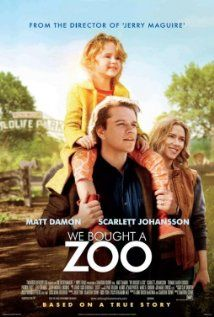 We Bought a Zoo, with Matt Damon, Scarlett Johansson, Thomas Haden Church, Colin Ford, Elle Fanning and Maggie Elizabeth Jones. Directed by Cameron Crowe.