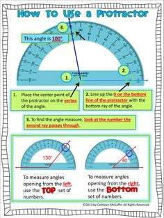 How to Use a #Protractor #Freebie