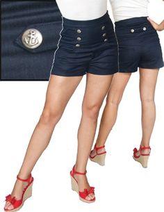 Steady Clothing Rock Steady Women's Anchor Shorts  i want i want i want