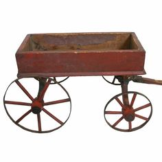 Would look great filled with pumpkins. 19th C. Ohio Made Child's Wagon