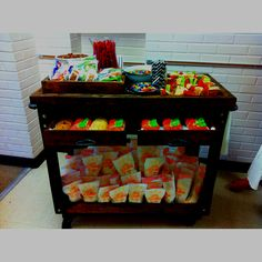 Snack cart for teacher appreciation week. They LOVED it!