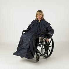 Splash Wheely Mac met mouwen kopen? Comfortabele regenponcho voor rolstoelgebruikers