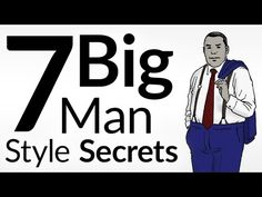 If you're taller than 6'4 and weigh more than 250lbs...  you've felt the stereotypes society has projected on you.  That you're slow, or lazy, or have no self-discipline.  None of it is true, but it's reality.  Let's change the narrative.  Big men who dress poorly?  Society takes them as