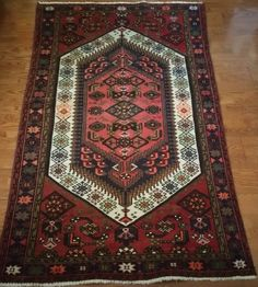 4' x 7' Beautiful Heriz Persian Oriental Wool Hand Knotted Area Rug #Persian