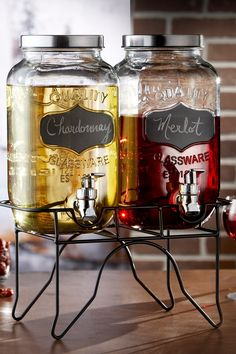 Clear Blackboard Glass Beverage Dispensers with Stand on HauteLook