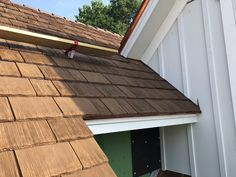 Photos Faux Cedar Shake Roof   Top Rated Synthetic Composite CeDUR Roofing Shakes Wood Roof Shingles, Cedar Shake Shingles, Cedar Shakes, Cedar Roof, Cool Roof, Exterior Remodel, Roof Top, Top Rated, Farmhouse Style
