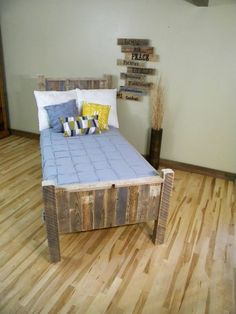 Queen Headboard, Cabin Beds, Twin Bed, Reclaimed Wood Headboard, Barn Wood, Bed Frame, Rustic Beam Bed, Pallet Furniture, Distressed Wood on Etsy, $650.00: