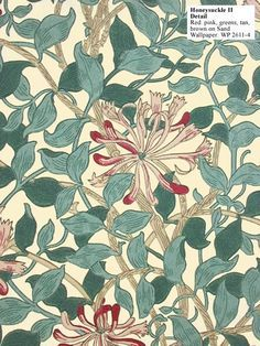 Honeysuckle designed by May Morris | Shoebox Décor