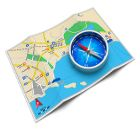 Illustration about GPS navigation, tourism and travel route planning concept: color city map and blue magnetic compass icon on white background. Illustration of find, orientation, earth - 26759134 Travel Route, Travel And Tourism, Magnetic Compass, Compass Icon, Map Marker, White Background Images, Gps Navigation, Cartography, Birds In Flight