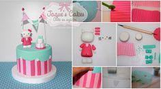 Hello Kitty Fondant Cake - Step by Step
