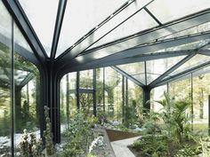 Pabellón invernadero suiza parque paisajismo recomendados