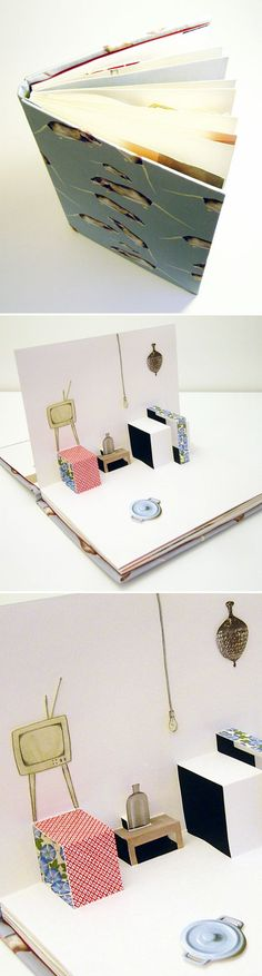 I have to say, I don't think these photos do this pop-up book, by Stockholm based artist Hale Güngör Oppenheimer, justice. I wish I could hold it, flip through it, have a really close look… which I'm