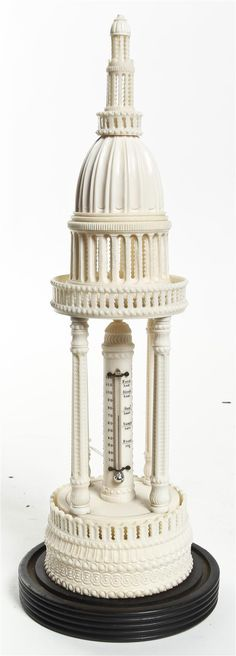 A Carved Ivory Temple, Height 11 1/4 inches.