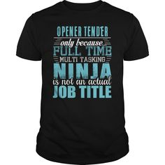 (Top Tshirt Brands) OPENER TENDER Ninja T-shirt [Hot Discount Today] Hoodies, Funny Tee Shirts