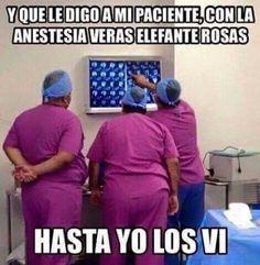 Elefantes rosas #anestesia #memes #medicina #doctores
