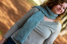 Bravais Lattice Scarf by MissAnthropyKnits, $38.00