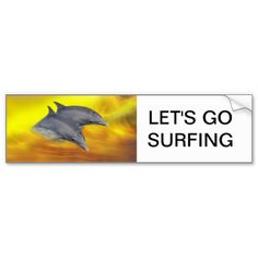 Dolphins surfing the waves. Let's go surfing