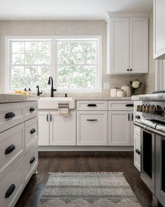 Finding the right #hardware for your #kitchen #cabinets might be more complicated that you think. This kitchen, designed by @redesignhomellc, features #durable and #beautiful #RestorationHardware #Dakota #knobs and #pulls. The #kitchencabinet style is overlay and the #runner is vintage, found in #Italy. Stop by the #blog for more details + #pictures! #kitchenideas #kitcheninspo #kitchengoals #goals #iginteriors #ig