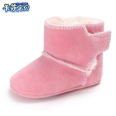 Winter Baby Boys Zapatos para niñas Calientes Recién nacidos Primeros  andadores Zapatos Interiores Infantiles Niñas Botas 66c292c63efc8