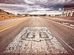 size: Stretched Canvas Print: US Route 66 : Artists Using advanced technology, we print the image directly onto canvas, stretch it onto support bars, and finish it with hand-painted edges and a protective coating. Old Route 66, Historic Route 66, Road Trip Destinations, Amazing Destinations, Alaska, Great American Road Trip, American Life, Affordable Vacations, Florida