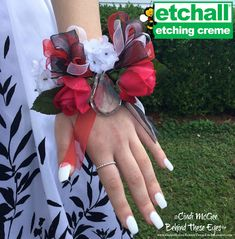 Cindi McGee -  Monogramed Crystal Prom Corsage - easy with etchall!
