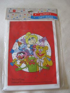 Vintage Muppets Loot Party Bags by VintageByThePound on Etsy, $8.50