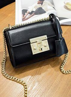 Shoulder Fashion PU Black Small Bags