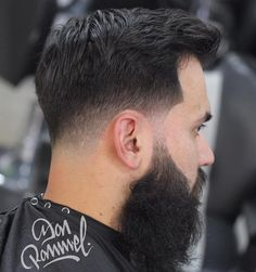 Low Taper Fade With Facial Hairstyle