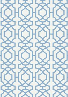 Alston Trellis blue and white #Thibaut #Monterey
