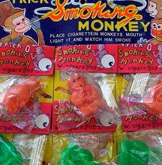 Vintage Smoking Monkey Toy by CrankyCakesShop on Etsy