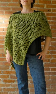 Hey, Everyone! This week's          was inspired by this...    Customizable Crochet Poncho           ...found on my Things to Crochet Bo...