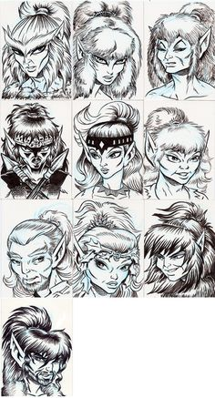ElfQuest 10 Chiefs can you name them if not go to elfquest official site and read the graphic novels for free join the hunt and howls.