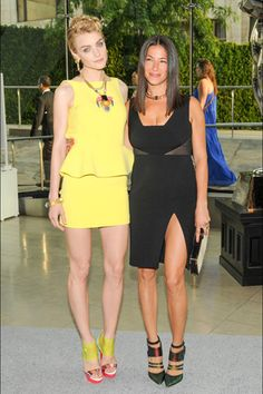 Jessica Stam in Rebecca Minkoff with the designer. 16 Hollywood and Fashion Style Stars - Best Dressed 6/4/2013 http://toyastales.blogspot.com/2013/06/16-hollywood-and-fashion-style-stars.html