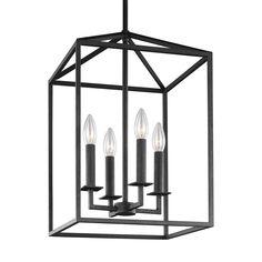 Cage Pendant Light, Lantern Pendant, Pendant Lamp, Foyer Lighting, Pendant Lighting, Lighting Ideas, Kitchen Lighting, Led Chandelier, Farmhouse Lighting